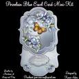 Porcelain Blue Bracket Shaped Easel Card Min-kit