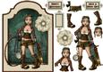 Steam Punkture - Shaped Card Front with Step by Step