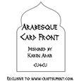 Arabesque Card Front Shape