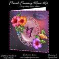 "Floral Fantasy 8"" Square Card Mini-kit"