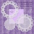 Lace Butterfly Frames & Mat Doily-type Embellishements