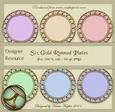 Decorative Plate Set in Six Pastel Colours