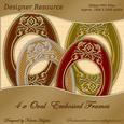 Decorative Gold Oval & Embossed Frames