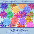 20 x Funky Floral Embellishments