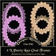 Pearly Lace Effect Oval Frames Set-01