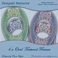 Decorative Oval Textured Frames
