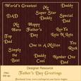 Father's Day Sentiment Greetings