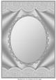 Silver Scallop Edged Oval Aperture Card Front