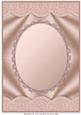 Copper Scallop Edged Oval Aperture Card Front