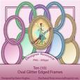 Oval Glitter Edged Frames Cu4cu