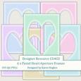 A5 Pastel Heart Aperture Frames Cu4cu