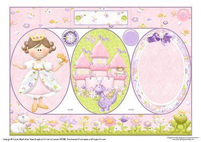 Fairytale Princess Birthday Tri-shutter Quick Card 2