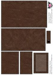 Dark Brown Leather Effect Men's 3D Money Gift Card Wallet