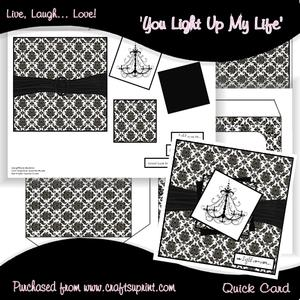 You Light Up My Life Square Card Kit