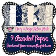 Retro Navy & Beige Male Backing Papers