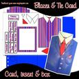 Blazer, Shirt & Tie Men's Birthday Father Day Card
