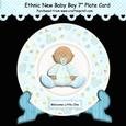 Ethnic New Baby Boy 7 Inch Plate Card Kit