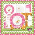 "Hoppy Easter 7"" Plate Card & Stand Kit 2"