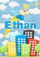 Ethan Superhero Personalised Childrens Name Picture