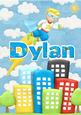 Dylan Superhero Personalised Childrens Name Picture