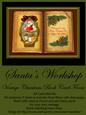 Santa's Workshop Vintage Christmas Book Card Front