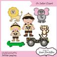 Cu4cu on Safari Clipart Instant Download 300dpi Printable