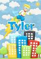 Tyler Superhero Childrens Personalised Name Picture