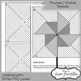 Cu4cu Pinwheel / Windmill Templates 300dpi