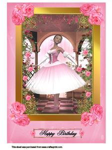 A4 Pink Rose Ballerina Kit