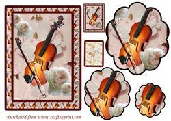 Musical Roses 2 Floral Pyramid Card