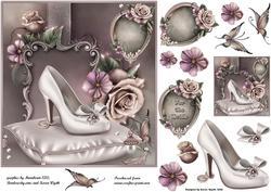 Vintage Bridal Shoe Topper