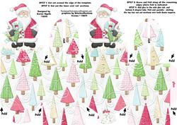 Xmas Santa Trees Box