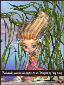 Shelley Mermaid A4 Tunnel Card Kit