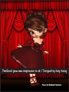 Trudy Ballerina A4 Tunnel Card Kit