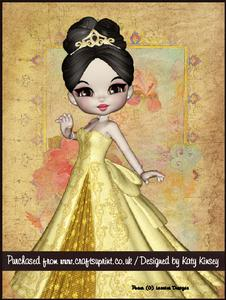 Princess Caelia in Lemon A4 Tunnel Card Kit