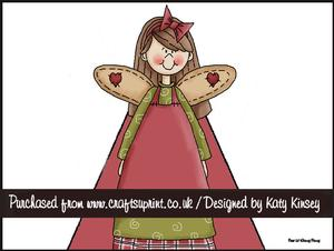Christmas Angel & Hearts 3D Stand Up Pyramid Card Kit