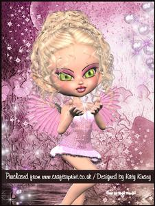 Sally Fairy A4 Pyramage Card Kit