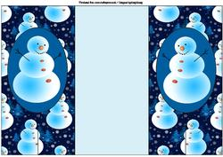 Frosty the Snowman Double Foldback Card
