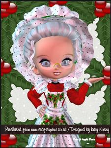 Mary Christmas A4 Tunnel Card Kit
