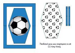 Football Crazy Flip Card Sheet in Blue