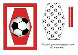 Football Crazy Flip Card Sheet in Red