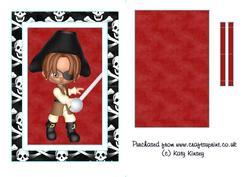 Yo Ho Ho Pirate Flip Card Sheet