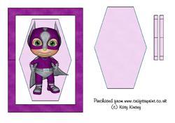 Superhero in Purple Flip Card Sheet