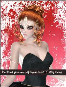 Beautiful Ballerina in Black A4 Pyramage Card Kit