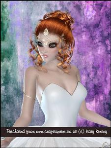 Beautiful Ballerine in White A4 Pyramage Card Kit