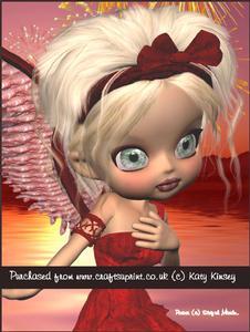 Ruby Angel A4 Pyramid Card Kit