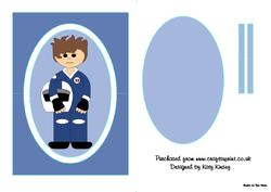 Motor Racer in Blue Flip Card Sheet