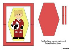 Motor Racer in Red Flip Card Sheet