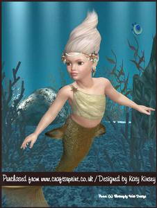 Little Mermaid A4 Pyramage Card Kit