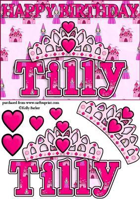 Birthday Princess A5 Name Card Tilly - CUP641411_1028 ...